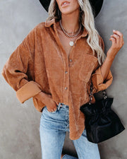 Casual Corduroy Style Shirt