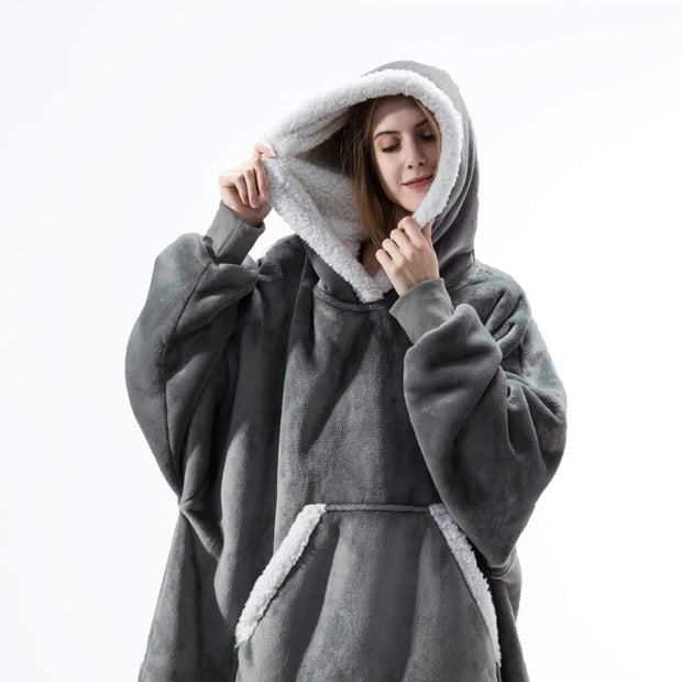 Oversized Warm Famaly Fleece Hoodie