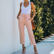 High Waist Pink Straight Jeans