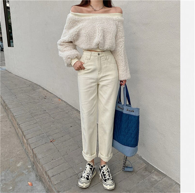 Fashionable Retro Straight Jeans