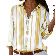 Casual Striped Loose Shirt