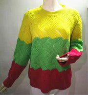 Warm Knitted Colorful Sweater