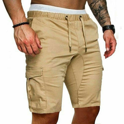 Cotton Elasticated Waist Gym Shorts