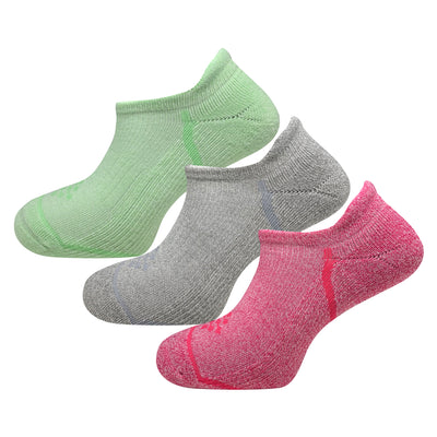 Athletic Infrared Performance No Show Tab Socks (3 Pair Colorful)