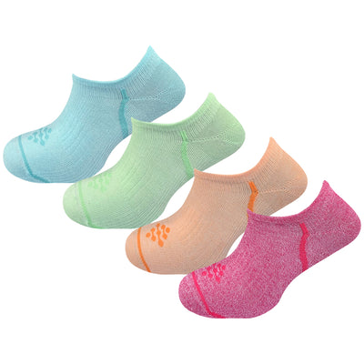 Athletic Performance Liner Socks with Infrared Technology (4 Pair Colorful)