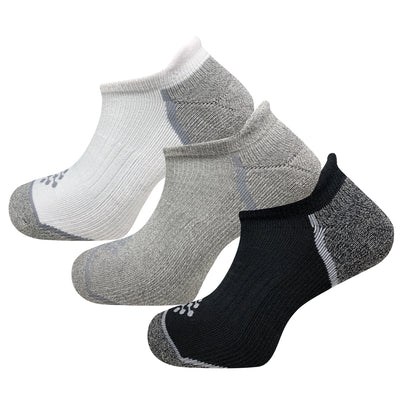 Athletic Infrared Performance No Show Tab Socks (3 Pair Solids)