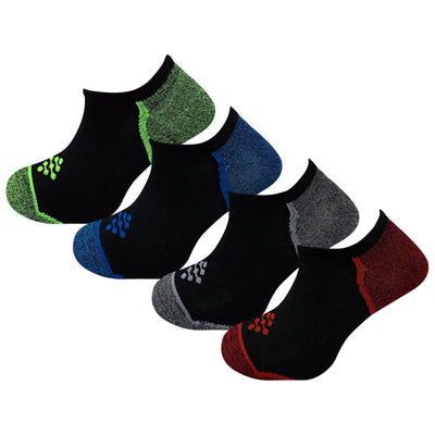 Athletic Performance Liner Socks with Infrared Technology (4 Pair Accents)