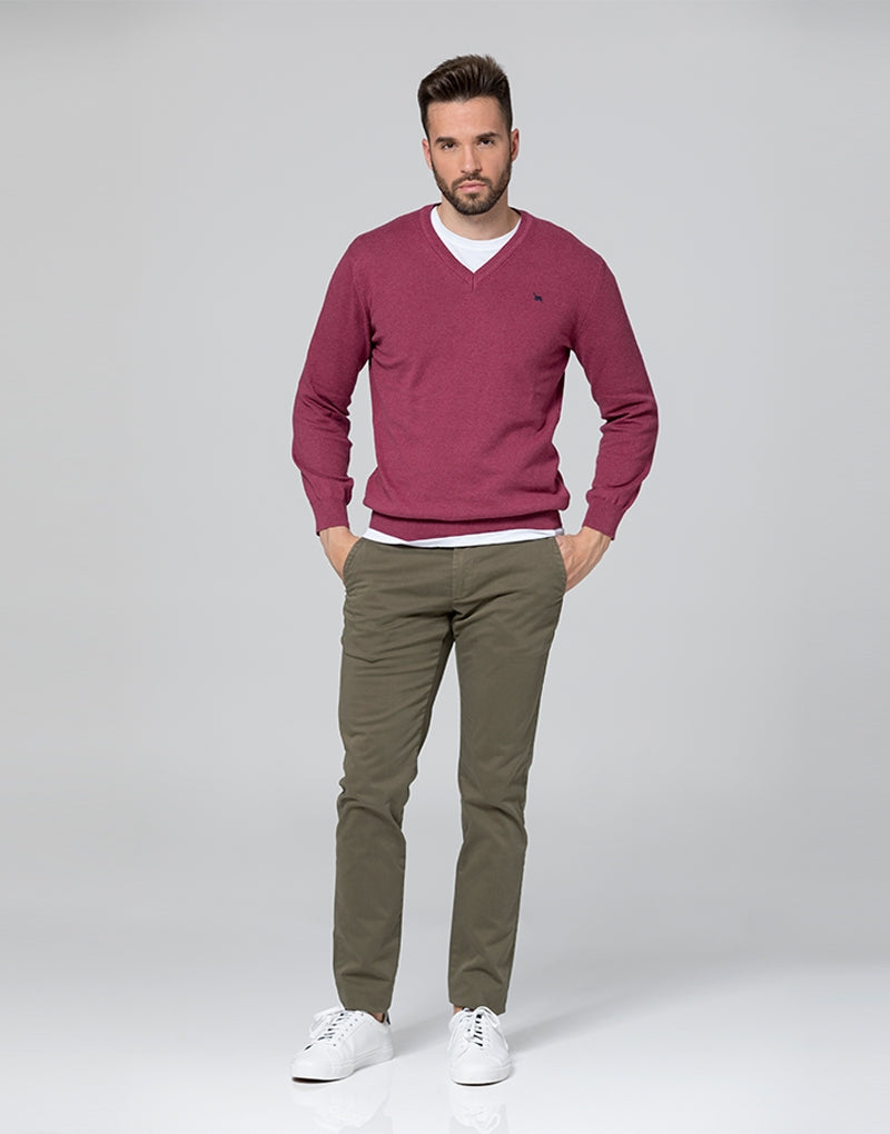 Pantalón casual khaki slim fit