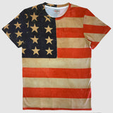 usa vintage flag all over print