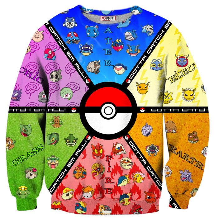 Pokemon Go team sweater sweatshirt yoprint