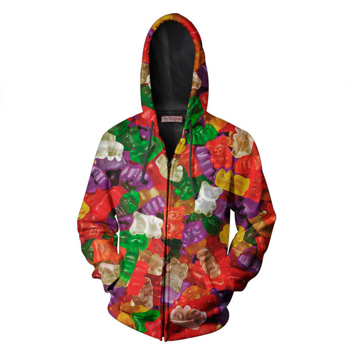 Gummy Bears zip up hoodie sublimation