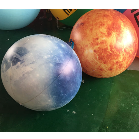 Inflatable Planets Solar System Replicas Balloons Decoration LED Lighting