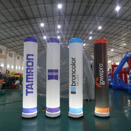 LED Lighting Inflatable Turrets Advertising With Logo