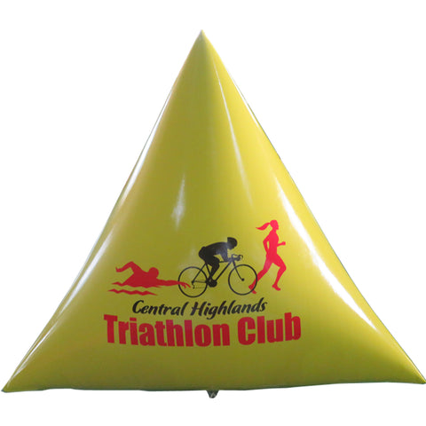 Inflatable Triathlon Marker Buoys Pyramid Shape Perimeter Guard Water Advertising