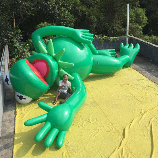 Inlfatable Frog Cartoon Helium Parade Balloons Replica Decoration