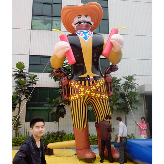 Inflatable Cowboys Replicas Air Tube Man Cartoon Decoration