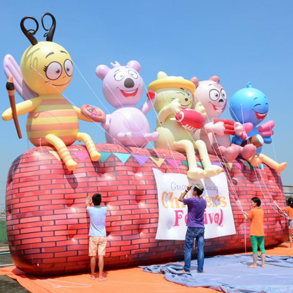 Inflatable Honey Bees Helium Parade Balloons Replica Decoration