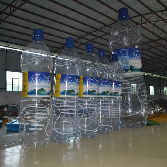 Inflatable Mineral Bottles Replicas Advertising