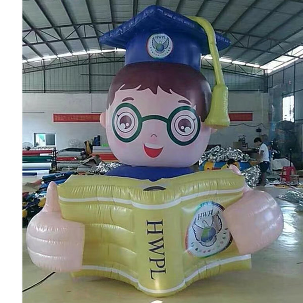 Inflatable Reader Reading A Book Helium Parade Balloons Decoration