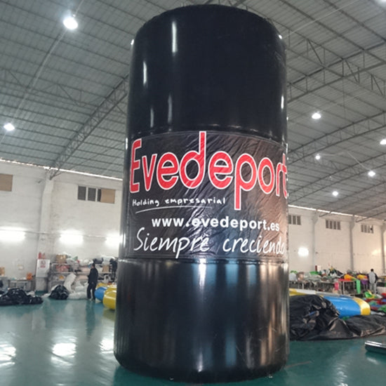 Giant Cylindrical Inflatable Marker Turrets LOGO Printed Advertising AirTight