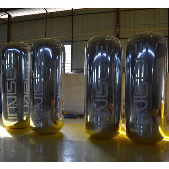 Inflatable Mirror Surface Tube & Turret Advertising