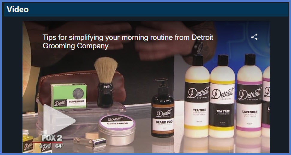Beard Grooming Products and Detroit Grooming Co.
