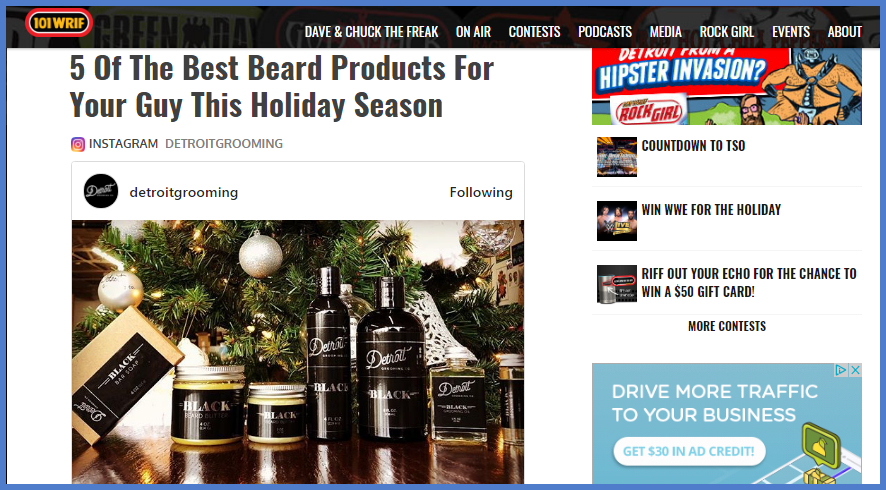 Beard Grooming Products the best by WRIF