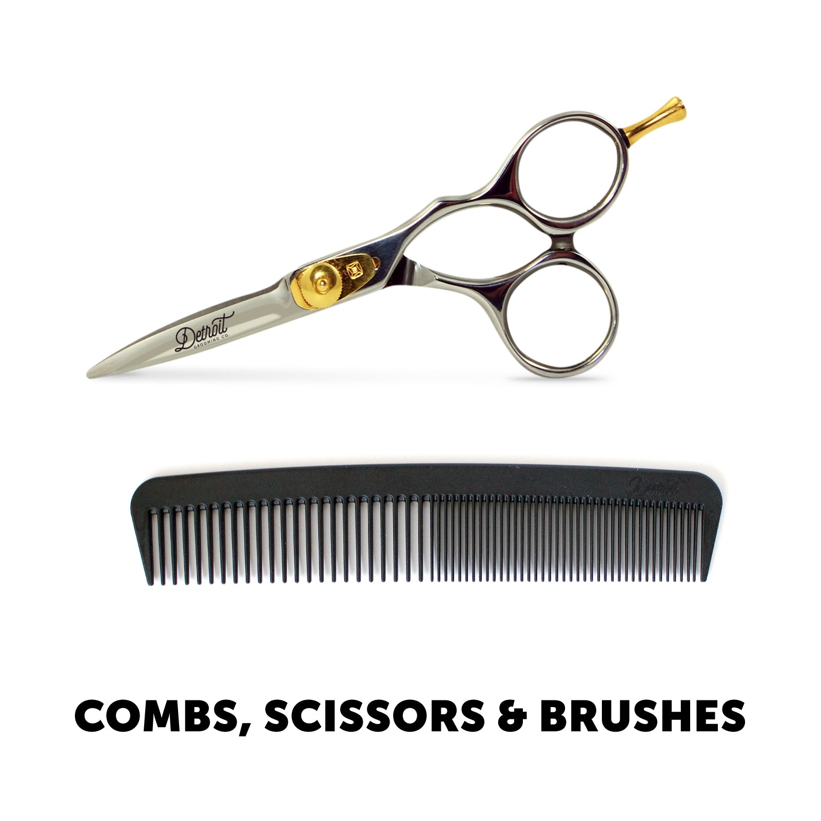 Beard Combs, Hair Combs, and Scissors Collection