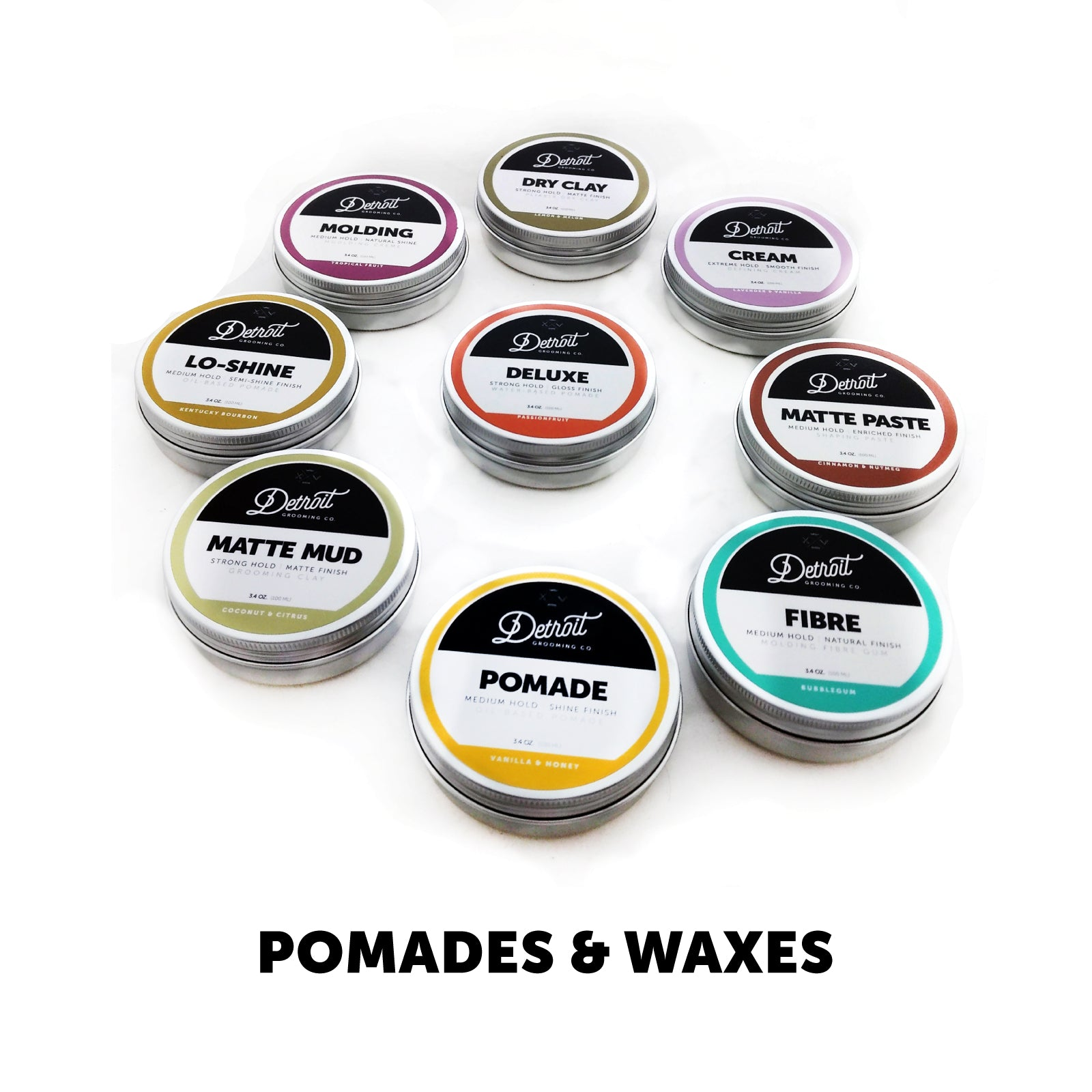 Hair Pomade and Wax Collection