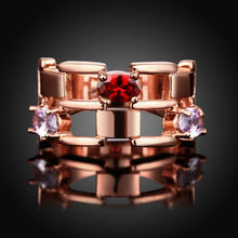 Load image into Gallery viewer, Rose Gold Ring with Swarovski