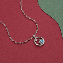 Load image into Gallery viewer, Snowflake Necklace with Swarovski Crystals