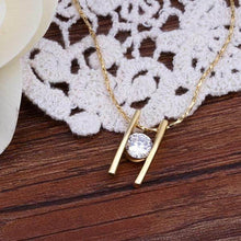 Load image into Gallery viewer, Gold Necklace with Swarovski Crystals