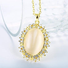 Load image into Gallery viewer, Opal Necklace with Swarovski Crystals