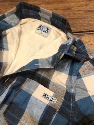 Micro Fleece-Lined Flannel Blue Check