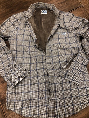Micro Fleece Lined Flannel - Sand Check