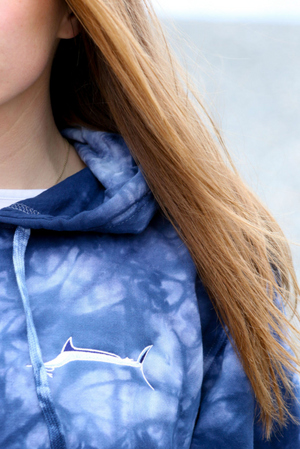 Tie Dye Marlin Shadow Hoody