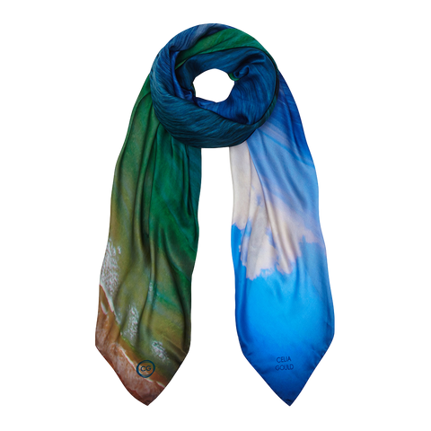 SUMMER SEA SILK SCARF