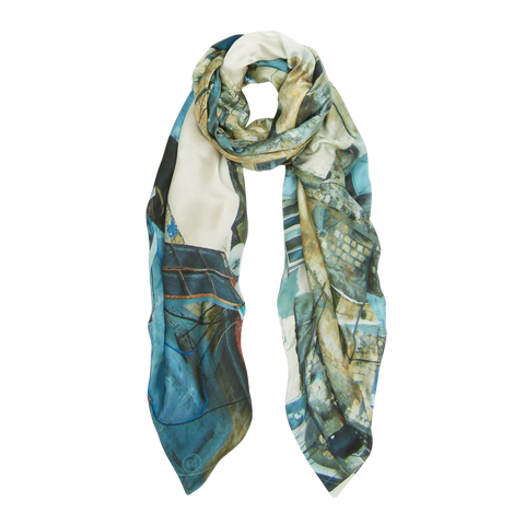 OLD CITY, JERUSALEM SILK SCARF