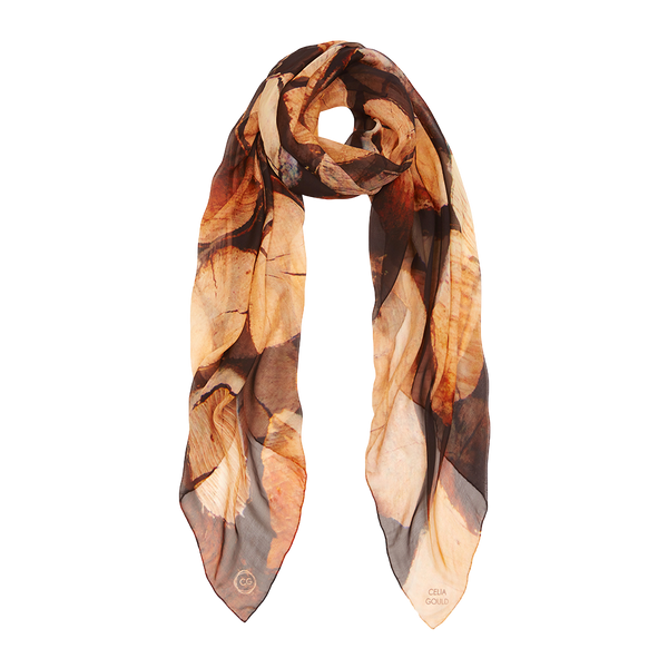 MEGEVE WINTER SILK CHIFFON SCARF