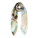 GREEN GENEVA SILK COTTON SCARF