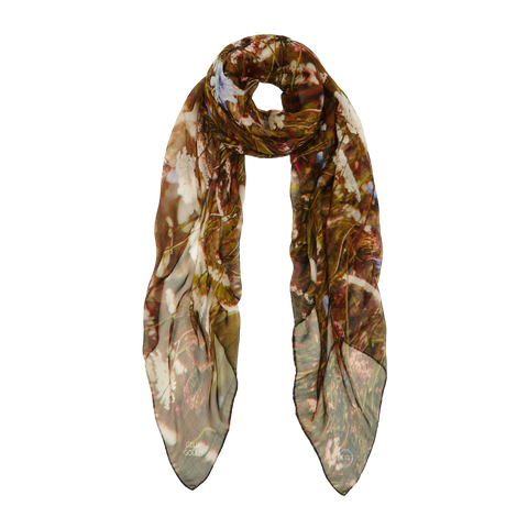 ITALIAN MEADOW SILK SCARF