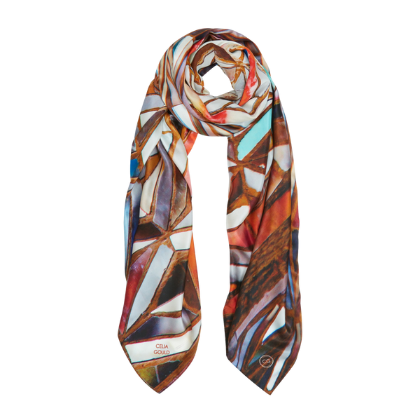 INLE TEMPLE SILK SCARF