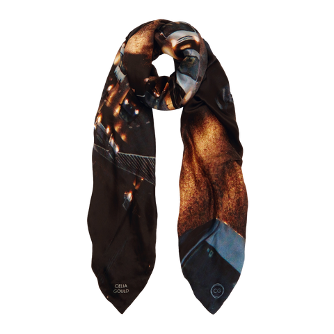 AYALON: LINED SILK SCARF