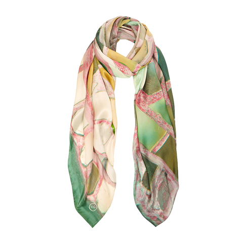 TEMPLE REFLECTIONS SILK SCARF