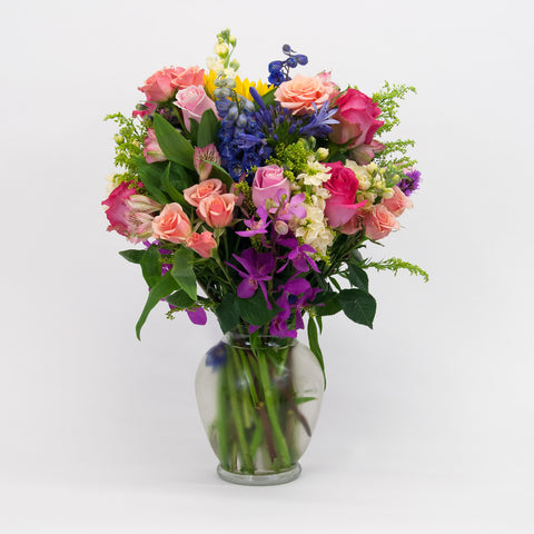 Colorful Spring Vase