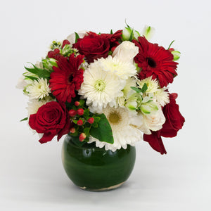 Festive Red and White Bouquet