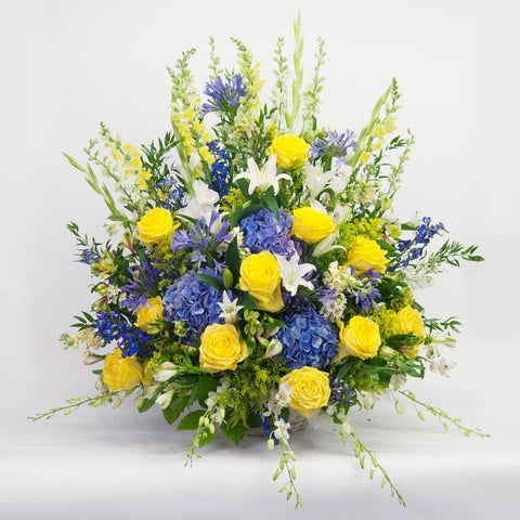 Yellow and Blue Sympathy Basket