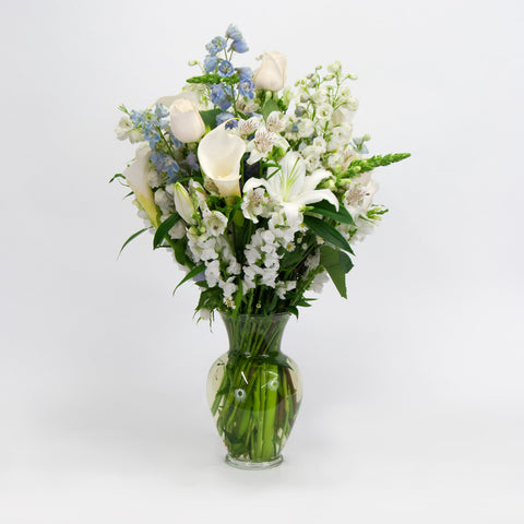 All White Take Home Vase Arrangement
