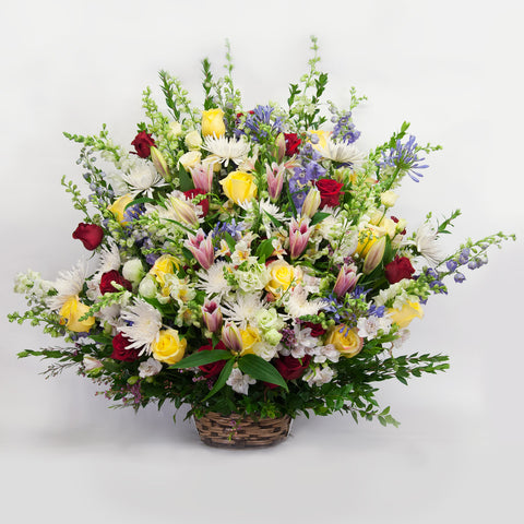 Colorful Sympathy Arrangement