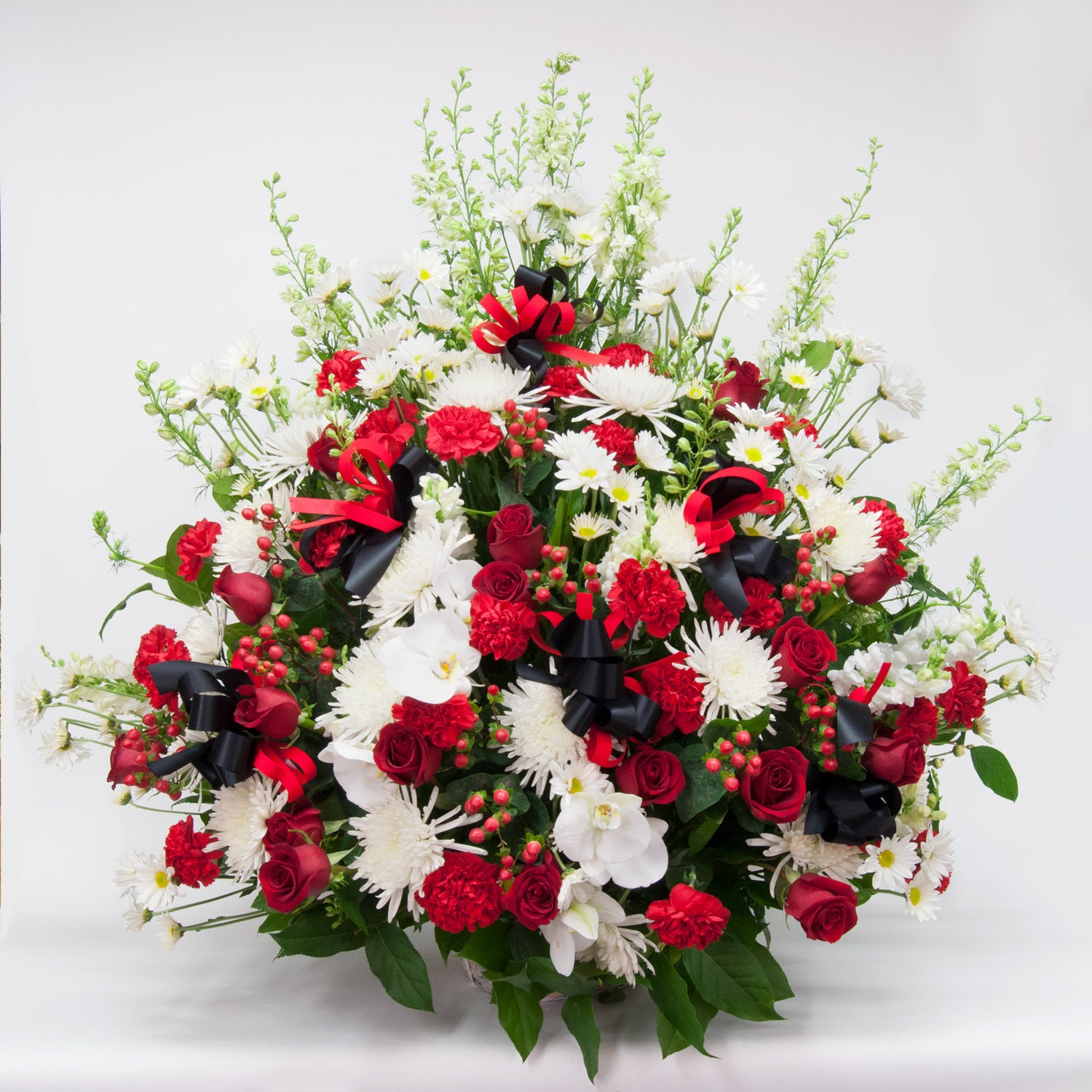 Red and White Sympathy Basket